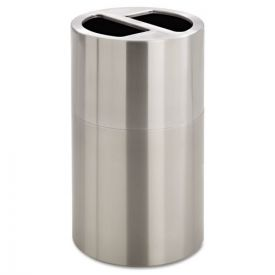Safco® Dual Recycling Receptacle, 30gal, Stainless Steel