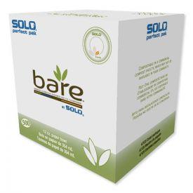 Dart® Bare Solo Eco-Forward Dinnerware, 12oz Bowl, Green/Tan