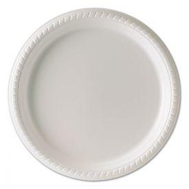 Dart® Plastic Plates, 10 1/4 Inches, White, Round
