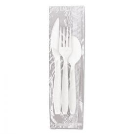 Dart® Reliance Medium Weight Cutlery Kit: Knife/Fork/Spoon, White
