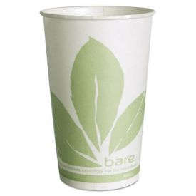 SOLO® Cup Company Bare Eco-Forward Treated Paper Cold Cups, 16oz. Green/White
