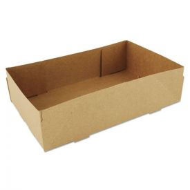 SCT® 4-Corner Pop-Up Food and Drink Tray, 8 5/8 x 5 1/2 x 2 1/4, Brown