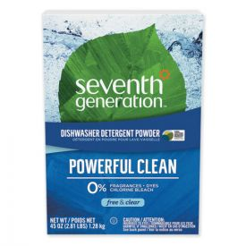 Seventh Generation® Automatic Dishwasher Powder, Free and Clear, 45oz