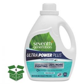 Seventh Generation® Natural Liquid Laundry Detergent, Ultra Power Plus, Fresh, 54 Loads