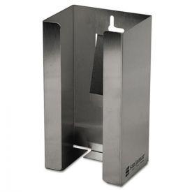San Jamar® Stainless Steel Disposable Glove Dispenser, Single-Box, 5 1/2w x 3 3/4d x 10h
