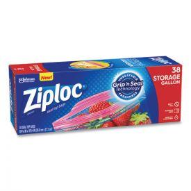 Ziploc® Double Zipper Storage Bags, 1 gal, 1.75 mil, 10.56