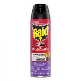 Raid® Ant and Roach Killer, 17.5oz aerosol, Lavendar