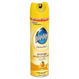 Pledge® Furniture Polish, Orange Clean Scent, 9.7oz aerosol