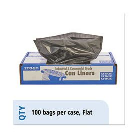 Stout® by Envision™ Total Recycled Content Plastic Trash Bags, 65 gal, 1.5 mil, 50