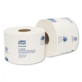 Tork® Universal Bath Tissue Roll with OptiCore, Septic Safe, 1-Ply, White
