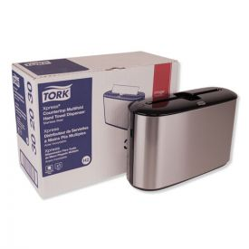 Tork® Xpress Countertop Towel Dispenser, 12.68 x 4.56 x 7.92, Stainless Steel/Black