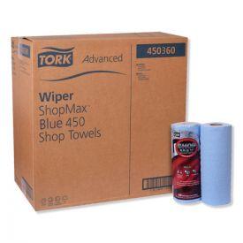 Tork® Advanced ShopMax Wiper 450, 11 x 9.4, Blue