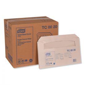 Tork® Toilet Seat Cover, 14.5 x 17, White