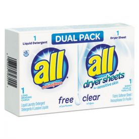 All® Free Clear HE Liquid Laundry Detergent/Dryer Sheet Dual Pack