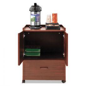 Vertiflex® Mobile Deluxe Coffee Bar, 23w x 19d x 30.75h, Cherry