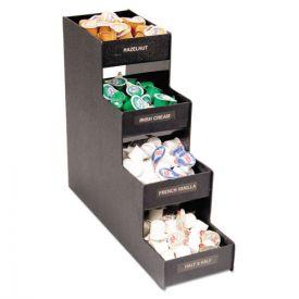 Vertiflex® Commercial Grade Narrow Condiment Organizer, 6w x 19d x 15 7/8h, Black