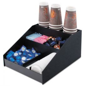 Vertiflex® Commercial Grade Horizontal Condiment Organizer, 12w x 16d x 7 1/2h, Black