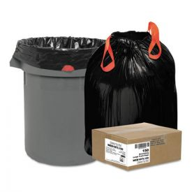Draw 'n Tie® Heavy-Duty Trash Bags, 33 gal, 1.2 mil, 33.5