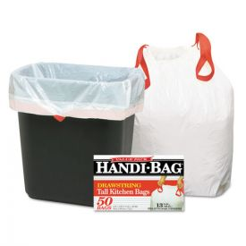 Handi-Bag® Drawstring Kitchen Bags, 13 gal, 0.6 mil, 24