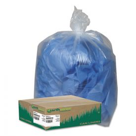 Earthsense® Commercial Linear Low Density Clear Recycled Can Liners, 45 gal, 1.5 mil, 40