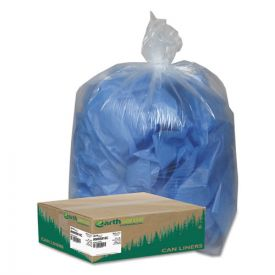 Earthsense® Commercial Linear Low Density Clear Recycled Can Liners, 60 gal, 1.5 mil, 38