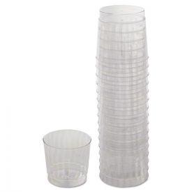 WNA Classicware Tumblers, 9oz. Plastic, Clear, Rocks Glass