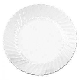 WNA Classicware Plates, Plastic, 10.25in, Clear, 12/Bag