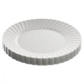 WNA Classicware Plastic Dinnerware, Plates, Plastic, White, 9in