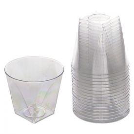 WNA Milan Tumblers, 9oz. Plastic, Clear