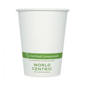 World Centric® Paper Hot Cups, 12oz. White