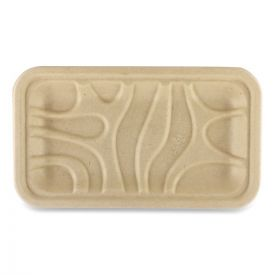 World Centric® Fiber Trays, PLA Lined, PFAS Free, 8.3 x 4.9 x 0.7, Natural