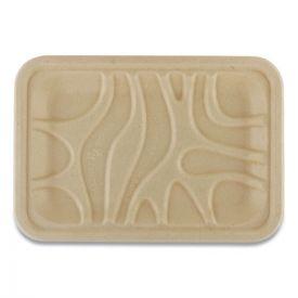 World Centric® Fiber Trays, PLA Lined, PFAS Free, 8.2 x 5.7 x 0.7, Natural