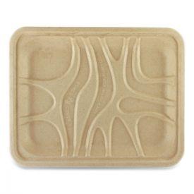 World Centric® Fiber Trays, PLA Lined, PFAS Free, 9.1 x 7.1 x 0.7, Natural