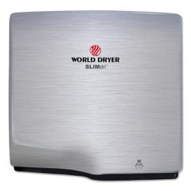 WORLD DRYER® SLIMdri Hand Dryer, Stainless Steel, Brushed
