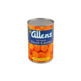 Allens Medium Sliced Carrots #10
