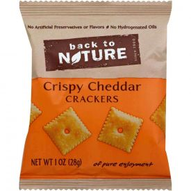 Back to Nature Crispy White Cheddar Crackers 1oz.