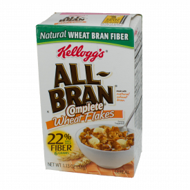 Kellogg's All Bran Complete Wheat Flakes Single Serve Packs 1.13oz.