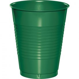 Emerald Green Plastic Cups, 16 Oz