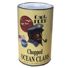 Captain Fred Chopped Ocean Clams 51oz.