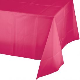 Hot Magenta Table Cover Plastic 54