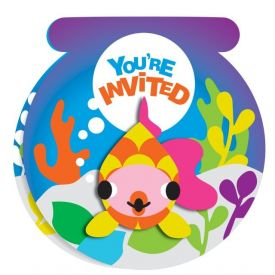 JUVI OCEAN INVITATIONS WITH ATTACHMENT