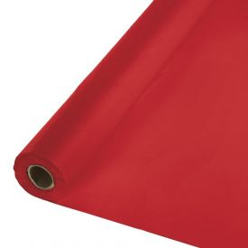 Classic Red Banquet Table Roll, Plastic 100'