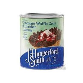J. Hungerford Smith Chocolate Waffle Cone Enrober Coating 3/96oz