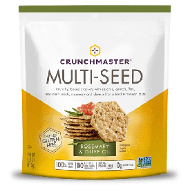 Crunchmaster Multi-Seed Rosemary & Olive Oil  Crackers 4oz.