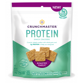 Crunchmaster Protein Roasted Garlic Crackers 3.54 oz