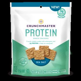 Crunchmaster Protein Sea Salt Crackers 3.54 oz