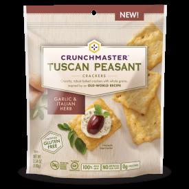 Crunchmaster Tuscan Peasant Garlic & Italian Herb Crackers 3.54 oz