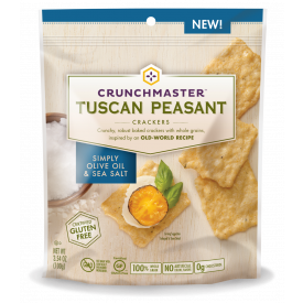 Crunchmaster Tuscan Peasant Simply Olive Oil & Sea Salt Crackers 3.54 oz.