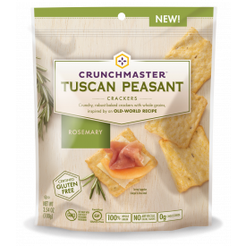 Crunchmaster Tuscan Peasant Rosemary Crackers 3.54 oz