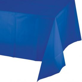 Cobalt Plastic Table Covers 54